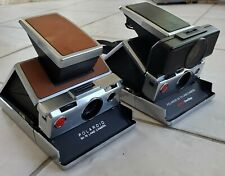 PAIR OF POLAROID SX-70 SONAR LAND CAMERA WITH CASE (401)