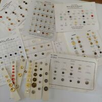 Huge Lot 182 Buttons,Vintage Salesman Sample Cards, Some Fashion Brands ships fr