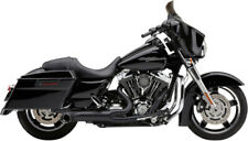Black Cobra 2 Into 1 Full Exhaust Pipes System Muffler Harley 17-20 Touring