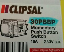 Clipsal Impress Momentary Push Button light switch 30PBBP no LED suit Z wave