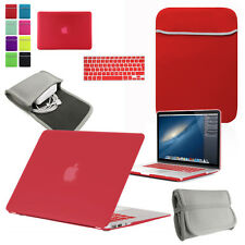 BUNDLE: Hard Case, Keyboard cover & Neoprene Charger Pouch & Sleeve for MacBook