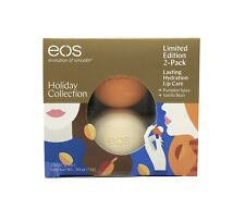 EOS Lip Balm Holiday Collection Limited Edition 2 Pack ~ Each 7g/0.25oz.