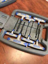 New Allen Wrench Set 7 Pc Heavy Duty Long T-handle Metric Sizes Hex Key In Case