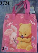 @**DISNEY BABIES PINK WINNIE THE POOH REUSABLE WOVEN TOTE BAG**ALL NEW!!!