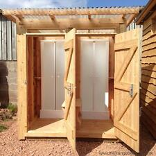 Stylish Outdoor Wooden Shower Cubicle for Campsites & Gardens