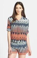 Parker Hailo Crop Print Silk Shirt - Size S-Retail Price 198
