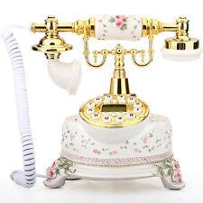 Classical Ceramic Desk Telephone Vintage Button Dial Retro Antique Phone  #6