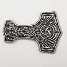 Thors Hammer Belt Buckle Mjolnir Viking Odin Celtic Knotwork Pagan feeanddave