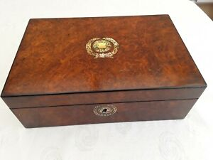 LOVELY WALNUT MOTHER OF PEARL WRITTING BOX,PHOTO,JEWELLERY,PENS,LETTERS,BOX,,,,,