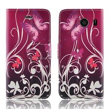 Buy 1 Get 2 -leather Wallet Book Flip TPU GEL Phone Case for Sony Xperia E3 Book-purple Shade - Flower Butterfly Butterflies