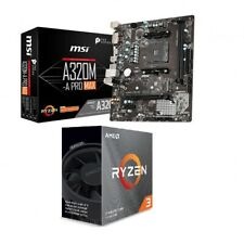Bundle Mainboard Motherboard AM4 MSI A320M-A PRO MAX Ryzen 3 3100 Boost 3,9GHz