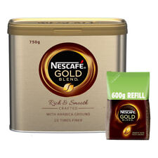 Nescafe Gold Blend Coffee Granules 750g Tin & 600g Eco Refill Bag VALUE PACK