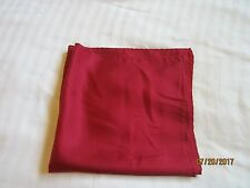 "Red 100% Silk Pocket Square 16"" X 16"""