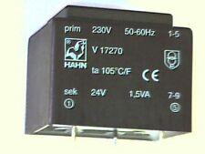 Printtrafo prim. 230V sek 24V 1,5VA Hahn V17270 Transformer Transformator Trafo