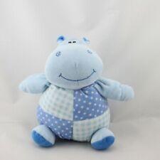 Doudou hippopotame bleu pois KSD - Hippopotame Classique