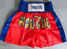 Muay Thai Boxing Shorts Thaiboxen Kickboxen Sport Kampfsport Hose Satin-NEU