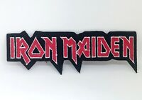 IRON MAIDEN Rock Punk Music Band Logo Iron on sew on embroidered patch #578