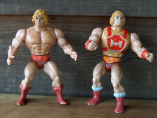 Lot of 2 Vintage 1981 & 1984 MOTU MASTERS OF THE UNIVERSE HE MAN ACTION FIGURE