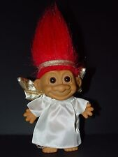 "Troll Doll 4 1/2"" Russ Christmas Angel Red Hair"