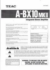 TEAC Bedienungsanleitung user manual owners manual  für A-BX 10 MKII