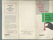 NM-059 - Tempil Brochure for Tempilstik, Tempil Pellets and Tempilaq, Vintage