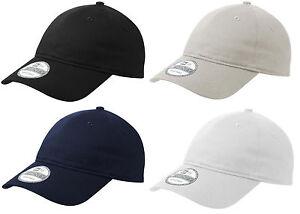 New Era 9TWENTY Adjustable Strapback Hat Dad Cap - Blank -Black, Navy, White 920