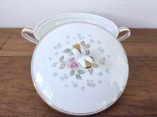 Sugar Bowl & Lid - Noritake Japan Rosebud Pattern Gold Trim - 1959 to 1963