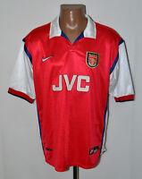 ARSENAL LONDON 1998/1999 HOME FOOTBALL SHIRT JERSEY NIKE SIZE L ADULT