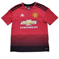 Manchester United Jersey 11 Alan Smith Adidas Size Large Red Short Sleeve Shirt