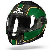 Shark Spartan Carbon 1.2 Priona DGQ Green Gold Full Face Motorcycle Helmet