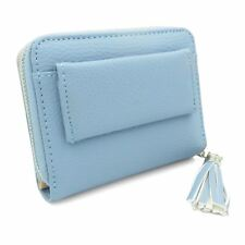 3cf664f1fdec Ladies Soft Leather Zip Coin Purse Credit Card ID Holder With RFID Blocking  UK