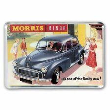 RETRO MORRIS MINOR  CAR- ONE OF THE FAMILY ADVERT JUMBO FRIDGE / LOCKER MAGNET