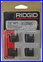 "Ridgid 37825 Alloy Pipe Threading Dies 1/2"" 12R NPT Set 4 USA MADE Free Ship"