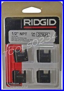 "1/2"" 12R NPT Ridgid 37825 Alloy Pipe Threading Dies Set 4 USA MADE"