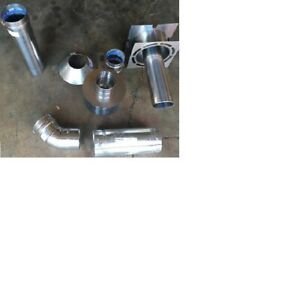 """3"""" Stainless Steel Garage Heater Horizontal Vent Kit - Full Kit used with Modine"""