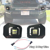 For 16-up Toyota Tacoma Hidden Lower Bumper 24W LED Fog Light Pod Replace Kits