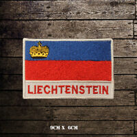 LIECHTENSTEIN Flag With Name Embroidered Iron On Sew On Patch Badge
