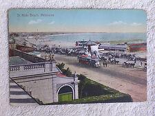 Melbourne Victoria Australia/St Kilda Beach/Tram-Trolley/Printed Color Photo PC
