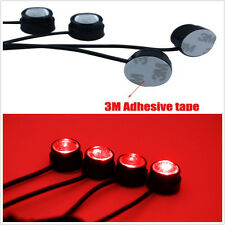 4 LED Emergency Flash Warning Rooftop Strobe 12V Light Red For Car SUV Off-road