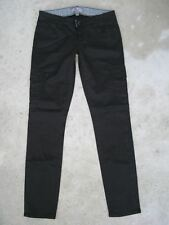 Paige Premium Jeans Womens Black Layne Skinny Cargo Pants Sz 25 Very Stretchy