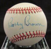 Bobby Brown Signed AL Baseball - Beckett BAS