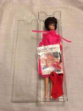 c1962 #850 Mattel Barbie Bubble Cut Brunette in Pink Nightie & Cover Up w/ Book