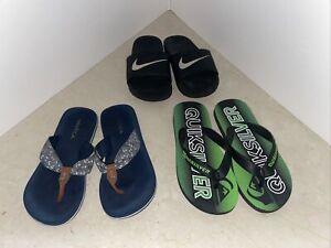 🎁SALE🎁NIKE, NAUTICA, QUICKSILVER Kids Boys Slippers Slide Sandal Flip Flop S 1