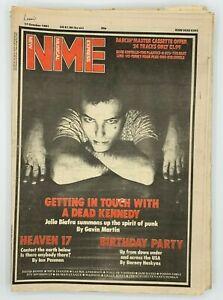 NME 17 October 1981 Jello Biafra Heaven 17 Birthday Party