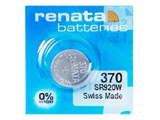 Renata 370 Pila Batteria Orologio Mercury Free Silver Oxide SR920W Swiss 1.55V