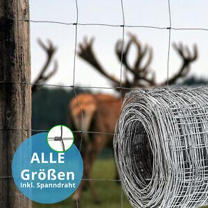 Metallzaun Wildzaun Gartenzaun Umzäunung Forstzaun 50 m Länge Knotengeflecht