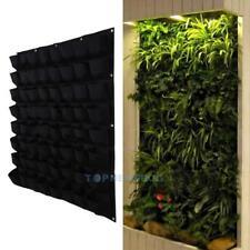 "64 Pocket Vertical Garden Wall Planter Hanging Bags Herb Pot Decorations 39""*39"""