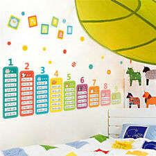 Cartoon Children 99 Multiplication Table Math Educational montessori mural decal