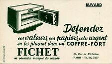 BUVARD PUBLICITAIRE / COFFRE FORT / FICHET / PARIS