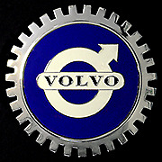 NEW Indoor/Outdoor Volvo Badge/Emblem- Adhesive Backed- Chromed Brass